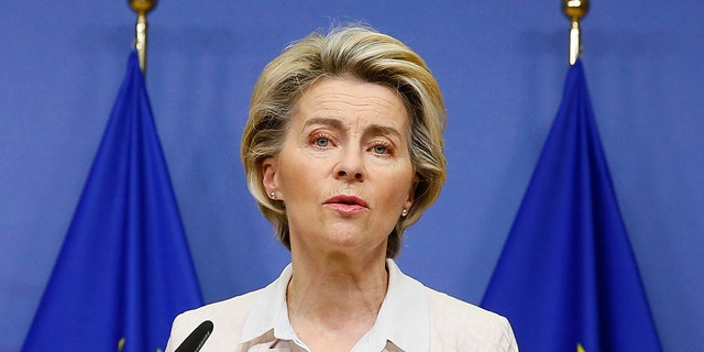 European Commission President Ursula von der Leyen and other EU leaders called on the United States Friday to start boosting its vaccine exports to contain the global COVID-19 crisis. (Julien Warnand)