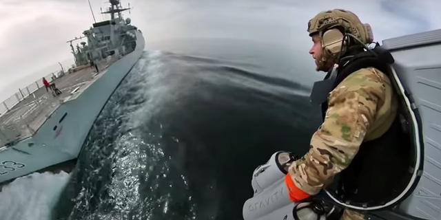 WATCH: British Royal Marines testing jetpacks that can reach speeds of 80 mph