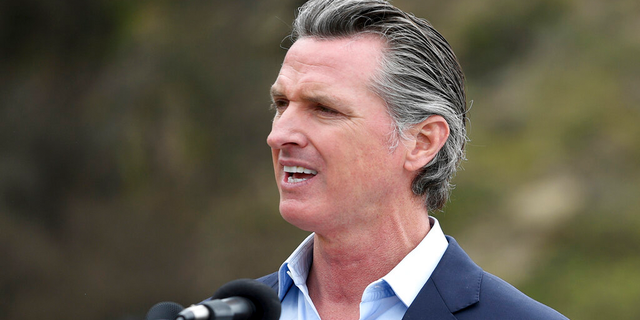 Newsom draws contrast with GOP challenger Caitlyn Jenner after her comments on transgender athletes