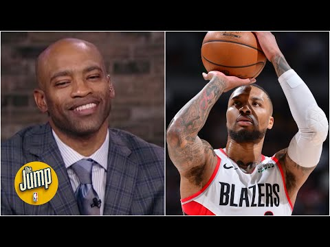 Vince Carter on Damian Lillard tying his NBA Playoff record of 8 3PM in a half 🔥   The Jump