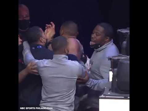 A fan appeared to throw popcorn at Russell Westbrook as he went to the locker room #Shorts