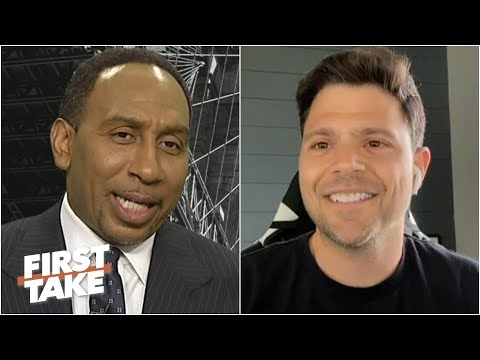 Stephen A. and actor Jerry Ferrara celebrate the Knicks' first playoff win since 2013 | First Take