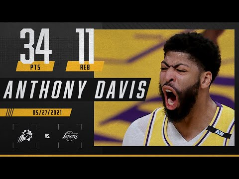 AD joins Shaq, Kobe, Kareem & Elgin in Lakers history with huge Game 3   2021 NBA Playoffs