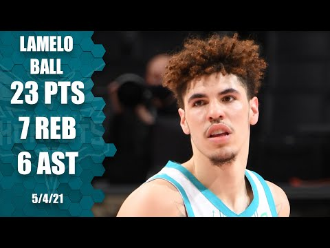 LaMelo Ball has an all-around game with 23 PTS, 7 REB & 6 AST ‼️