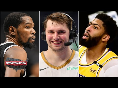 Luka puts KD on skates, Kyrie drops 45 and AD leaves with back spasms | SportsNation