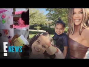 Khloé Kardashian Hosts Adorable Painting Party for True & Her Cousins | E! News