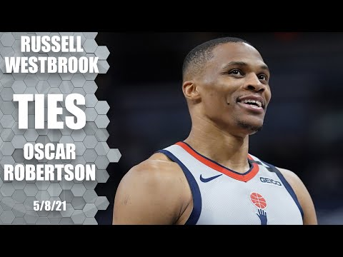 Russell Westbrook ties Oscar Robertson for all-time triple-doubles ‼️   NBA Highlights