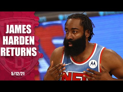 James Harden RETURNS, records 18 PTS, 11 AST & 7 REB in Nets' win!