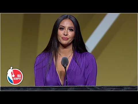 Vanessa Bryant expresses Kobe's love for Michael Jordan and the fans   2020 Basketball Hall of Fame