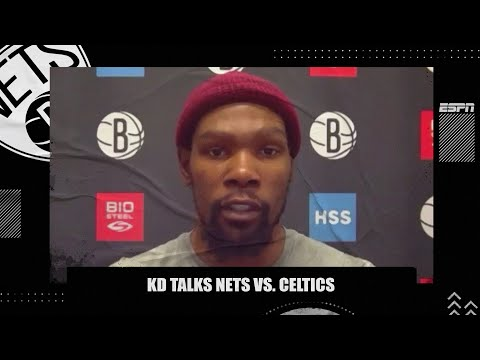 Kevin Durant respects the Celtics and says the Nets 'can be beat if we don't lock in' | NBA on ESPN