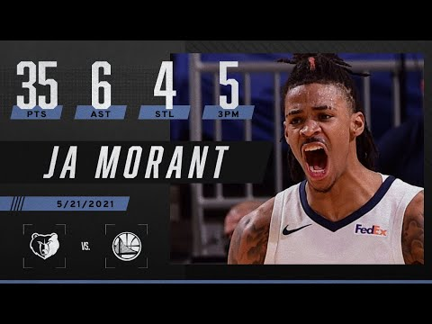 Ja Morant's 35 PTS lead Grizzlies to the playoffs ‼️