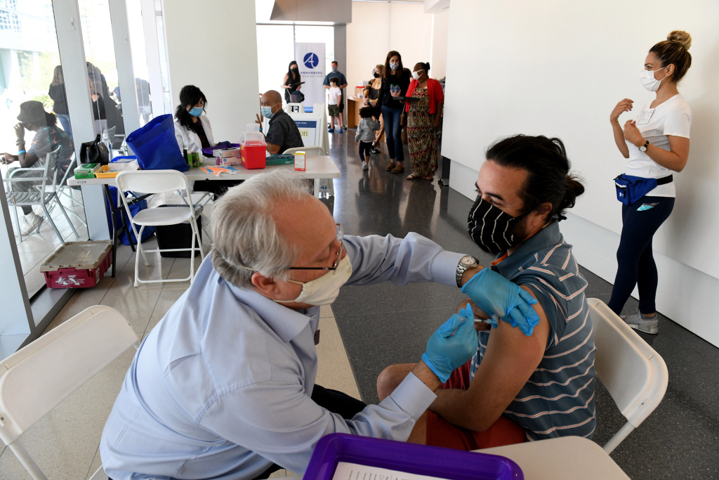 Fewer people want coronavirus vaccines than are available now in LA County