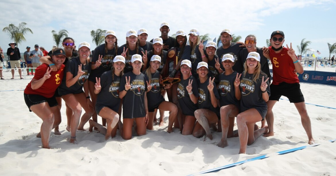 USC defeats UCLA to claim its third NCAA beach volleyball title