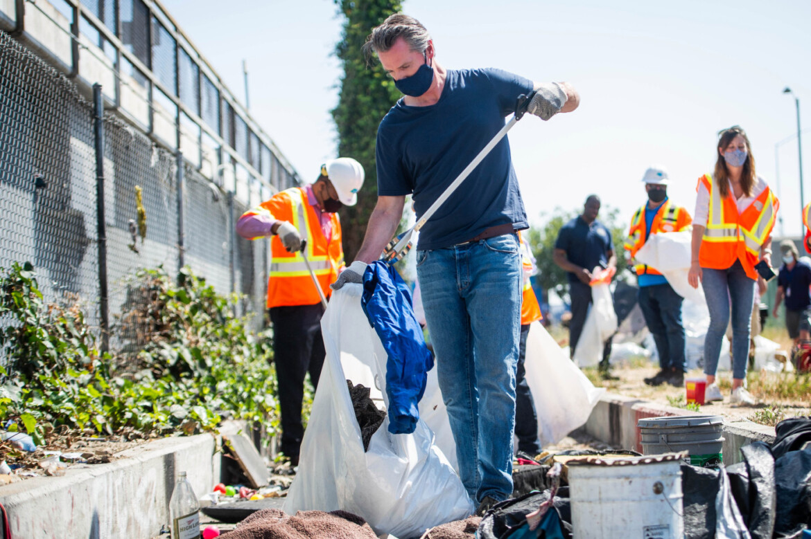 Newsom channels some Californians' frustrations about freeway trash, pitches $1.5 billion cleanup