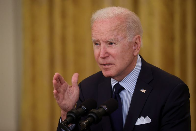 Biden urges employers to boost wages, get people vaccinated