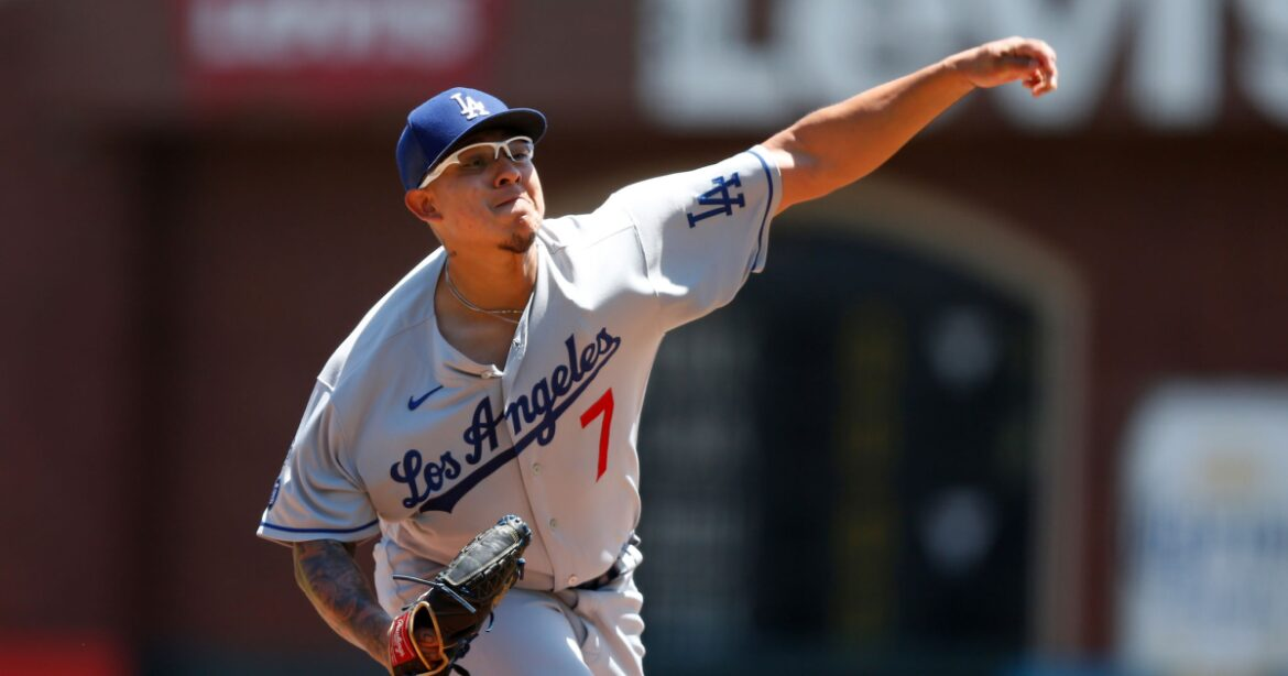 Column: Julio Urías pitching at a level that matches his more established Dodgers counterparts
