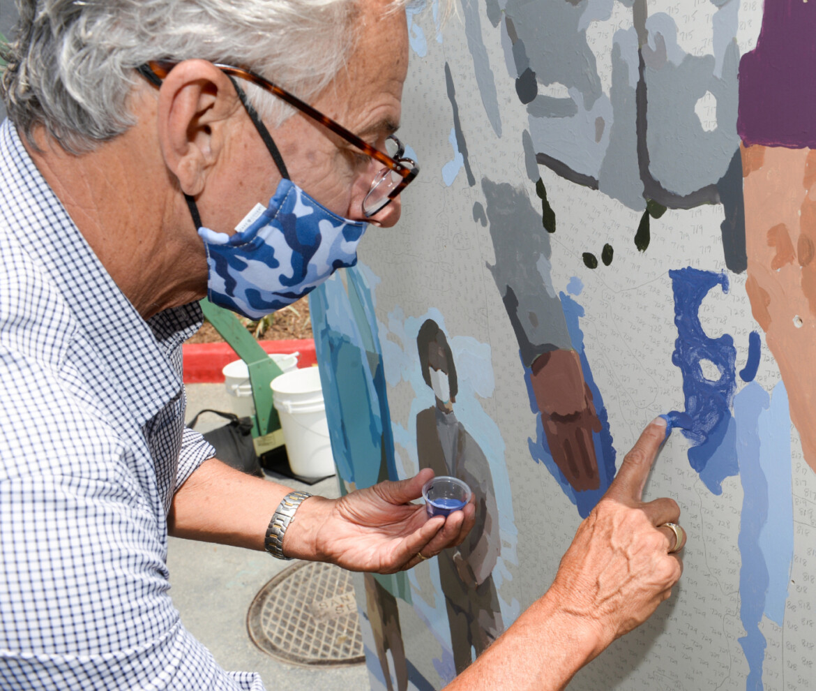 Team finger-painting offers Rose Hills staff an artful respite amid a trying, pandemic-framed year