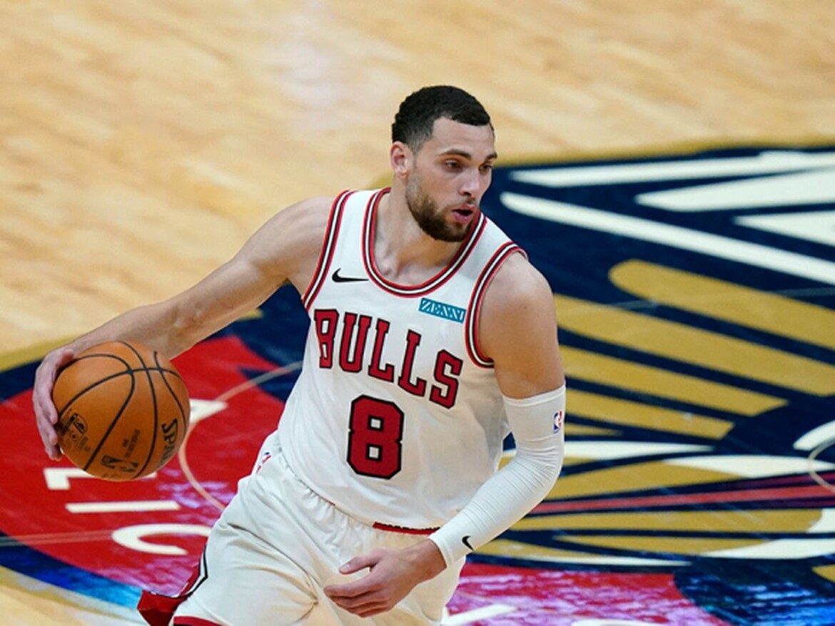 Bulls guard Zach LaVine is out of quarantine and makes courtside visit