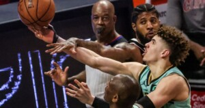 Hornets' LaMelo Ball selected NBA's rookie of the year