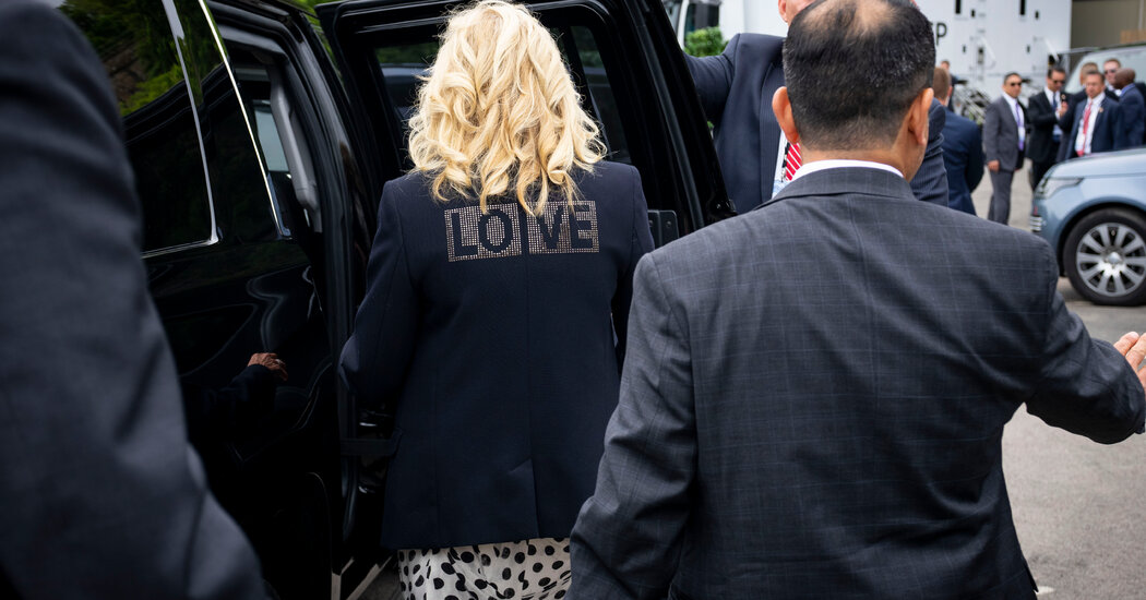 First Lady Wears Jacket to Send Message on International Trip