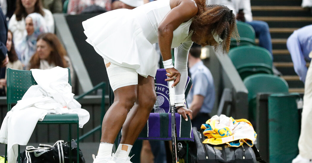 Serena Williams Exits Wimbledon With an Injury