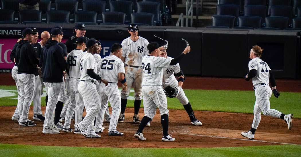 Clint Frazier Uses His Glove, and His Bat, to Beat Rays