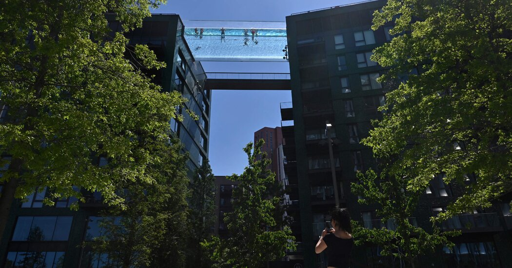 A See-Through Pool Opens 10 Stories Above London