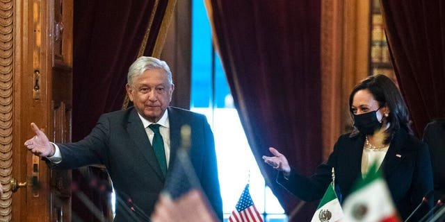 Mexico's López Obrador says he called Harris 'president' after meetings on migration