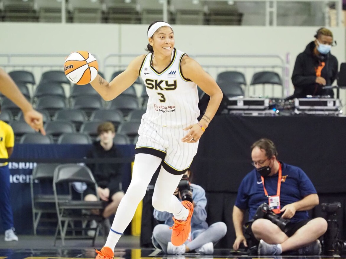 Candace Parker notches first double-double with Sky in win over Fever