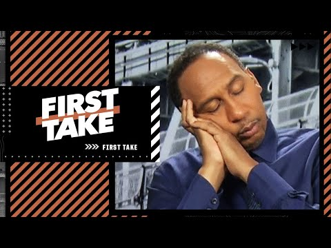 Stephen A. falls asleep during Max's thoughts on the Hawks vs. Bucks series   First Take