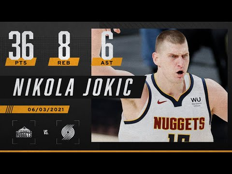 Nikola Jokic leads Nuggets to series-clinching win with 36 PTS, 8 REB & 6 AST ‼️