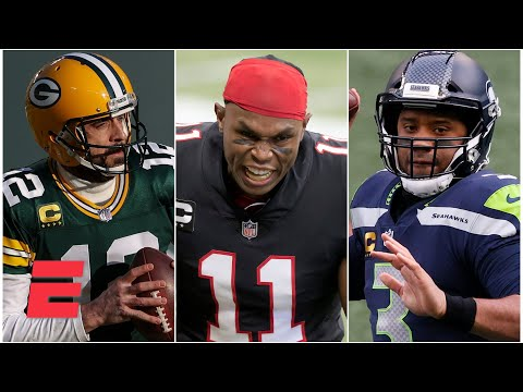 Julio Jones catches a TD from Aaron Rodgers or Russell Wilson: Which is more likely to happen?   KJZ