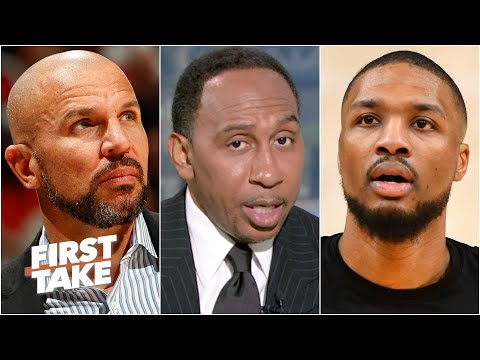 Stephen A. reacts to Damian Lillard calling for the Blazers to hire Jason Kidd | First Take