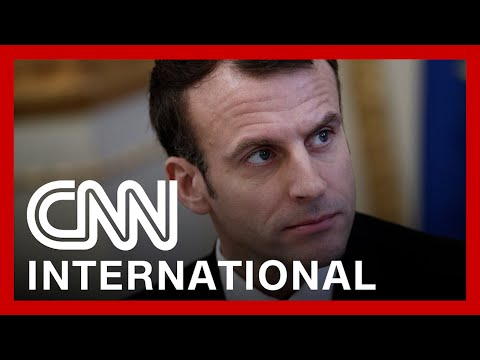 French president gets slapped by member of public