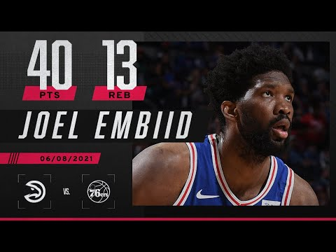 Joel Embiid records 76ers' first 40-PT playoff game since Allen Iverson ‼️