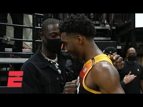 Reacting to Donovan Mitchell lighting up the Clippers in Game 1 and D-Wade's sideline advice   KJZ