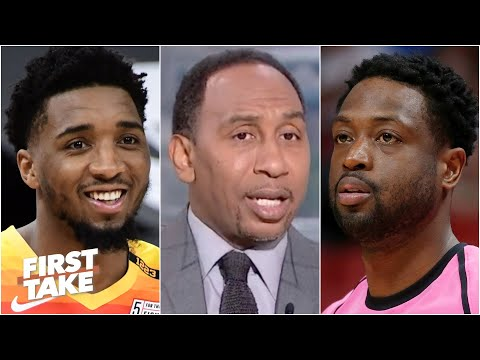 Stephen A. on Dwyane Wade giving court-side advice to Donovan Mitchell | First Take