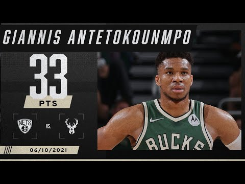 Giannis comes up BIG with 33 PTS & 14 REB as Bucks avoid 3-0 deficit 🦌 | 2021 NBA Playoffs