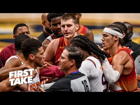 Has the NBA become soft? Trae Young and Ja Morant sound off of Nikola Jokic's ejection | First Take