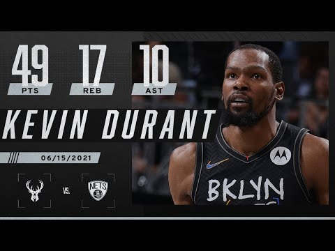 ⚫ Kevin Durant has HISTORIC TRIPLE-DOUBLE with 49-17-10 in Nets' Game 5 win ⚪