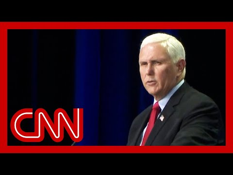 Mike Pence heckled at conservative conference