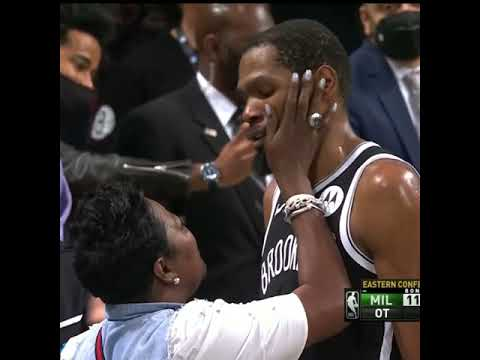 Kevin Durant goes over to hug his mom after Game 7 ❤️ | #Shorts
