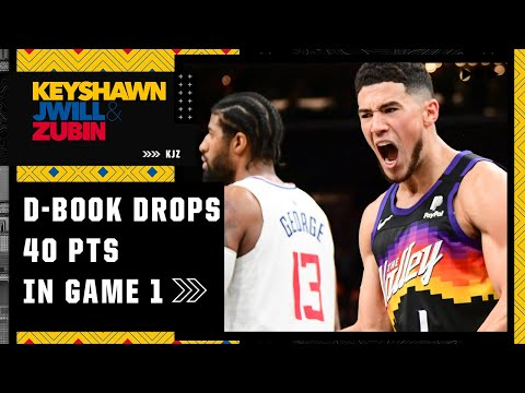 Reacting to Devin Booker dropping 40 points on the Clippers in Game 1 | KJZ