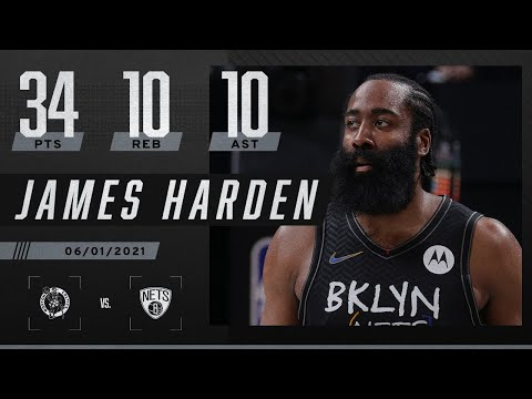 James Harden becomes 1st Nets player with playoff triple-double since Jason Kidd   2021 NBA Playoffs