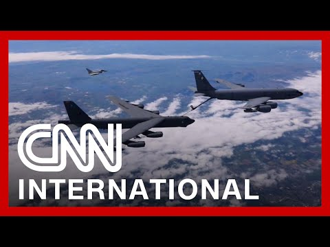 US and allies fly over NATO countries in message to Putin