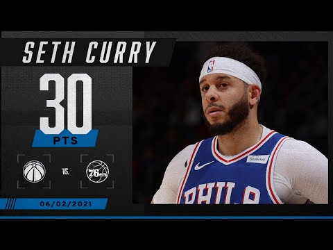 Seth Curry sets PLAYOFF CAREER HIGH as 76ers clinch series 🔥 | 2021 NBA Playoffs