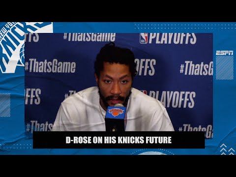 Derrick Rose on his future with the Knicks: That's not up to me   2021 NBA Playoffs