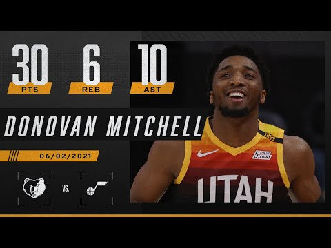 Donovan Mitchell helps the Jazz close out the Grizzlies | 2021 NBA Playoffs