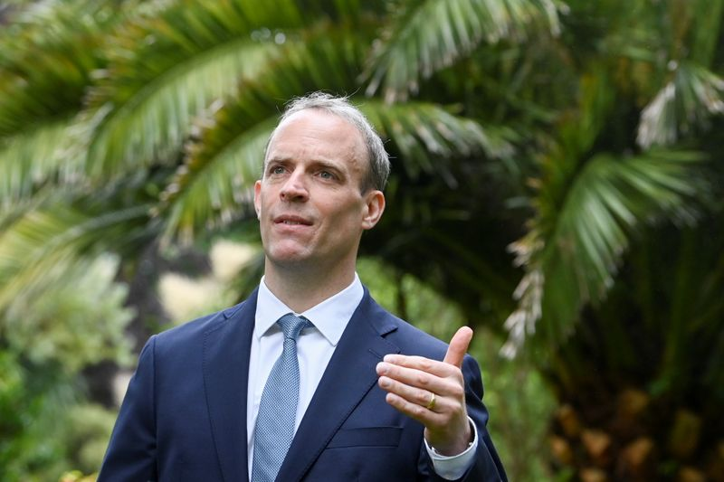 Exclusive-UK's Raab: We don't condone 'vaccine diplomacy', but no doubt some are using it