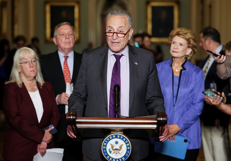 U.S. Senate's Schumer to convene group of Democrats working with Republicans on infrastructure